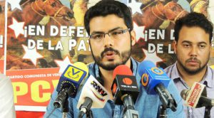 Héctor Alejo Rodríguez, Generalsekretär der Kommunistischen Jugend Venezuelas. Foto: Tribuna Popular